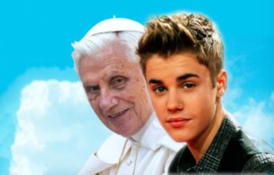 pope-Justin Bieber