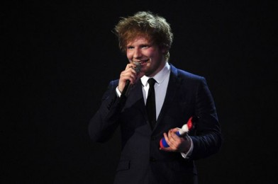 The  Burberry suit Ed wore to the Brits