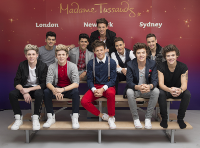One Direction waxworks finally unveiled at Madame Tussauds London