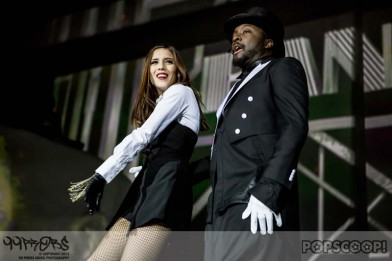 Will.i.am is joined by The Voice finalist Leah McFall at opening night of his UK tour
