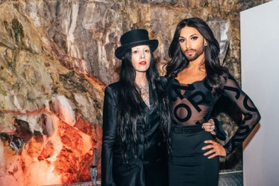 Bea Akerlund with Eurovision Song contest winner Conchita Wurst