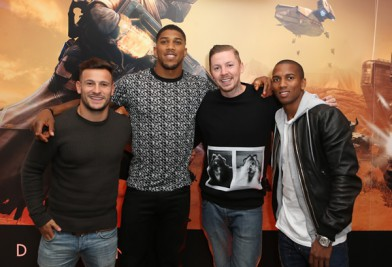 Danny Care, Anthony Joshua, Professor Green and Ashley Young