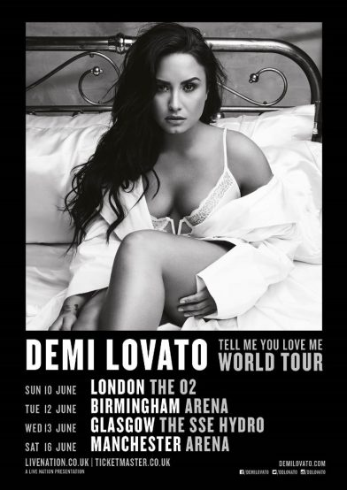 Demi Lovato Announces Eight European Tell Me You Love Me Tour