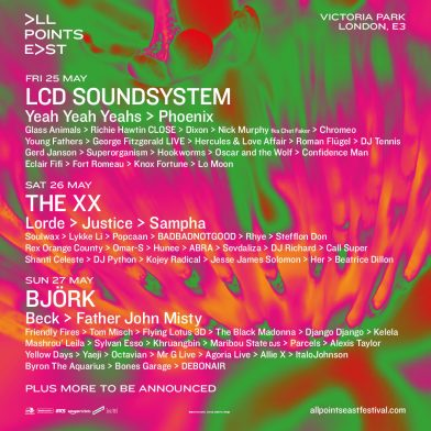 All Points East Festival announce new artists and impressive stages